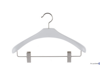 White wooden coat-hangers