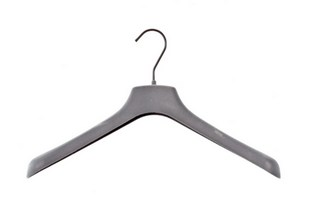 Grey Velvet Hangers - Flocked